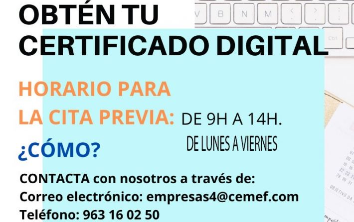 certificado digital CEMEF
